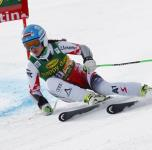Elisabeth Goergl of Austria in action during the women's FIS Alpine Skiing World Cup SuperG race in Cortina d'Ampezzo, Italy, 19 January 2015. Vonn won the race. ANSA/ANDREA SOLERO