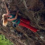 Matilda Söderlund climbing at Örnberget in Stockholm, Sweden.