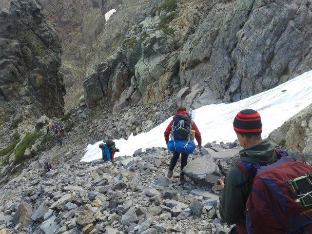 Descending the Cirque