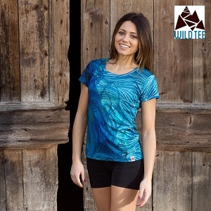 WILD TEE<br /> Waves Women Tech T-Shirt<br />Summer 2018