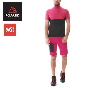POLARTEC <br /> Millet Trilogy Fragment Zip short-sleeve tee <br /> Summer 2021